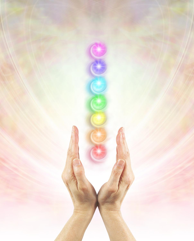 chakra balancing hands