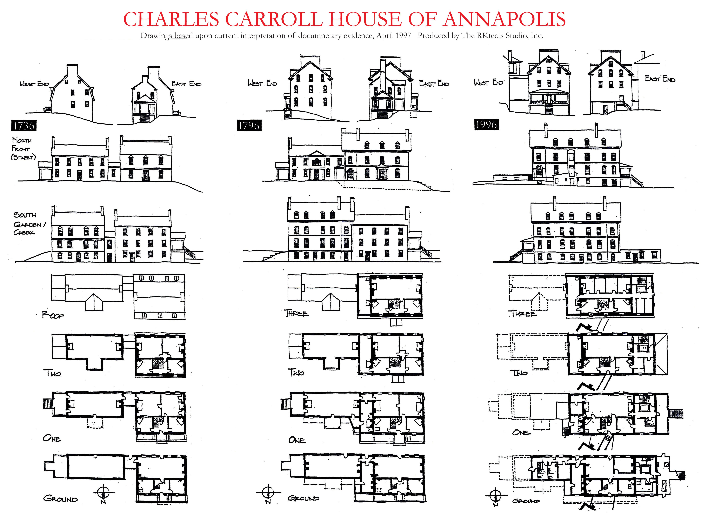 Charles Carroll House Plans