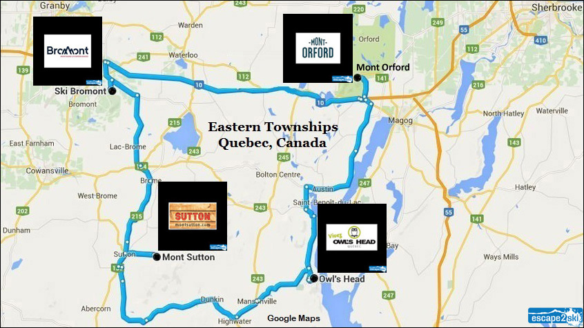 Eastern Townships Ski Areas | Bromont Ski Area | Escape2ski | Eastern Townships.org | Eastern Townships Tourism | Quebec Ski Areas | Skiing in Canada | Ski Bromont | Bromont, Quebec | Owl's Head, Quebec | Mont Orford, Quebec | Mont Sutton, Quebec | Ski the Eastern Townships