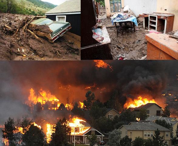 wildfire and mudslides