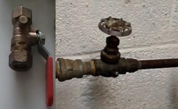 water shutoff valve