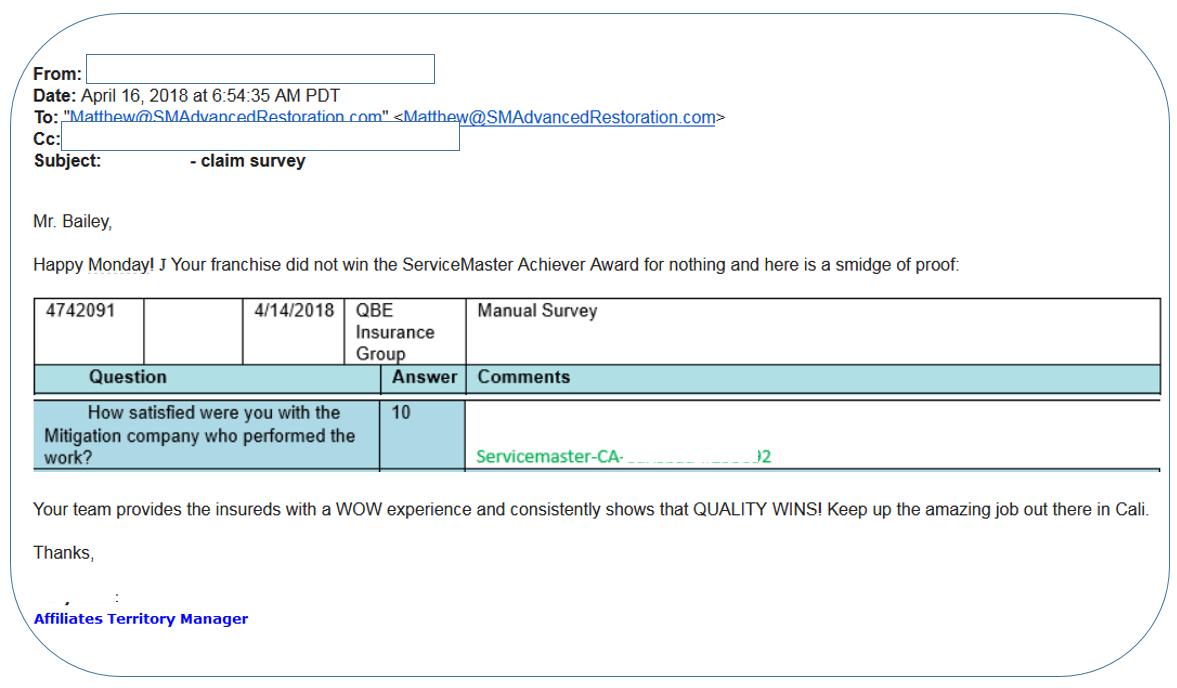 customer survey apr 16