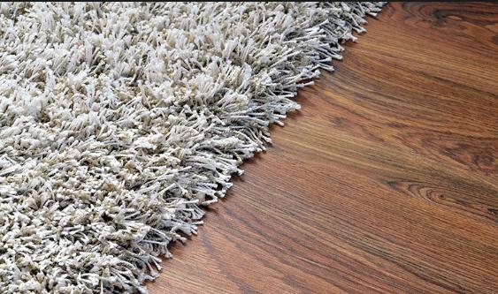 wet damaged rug
