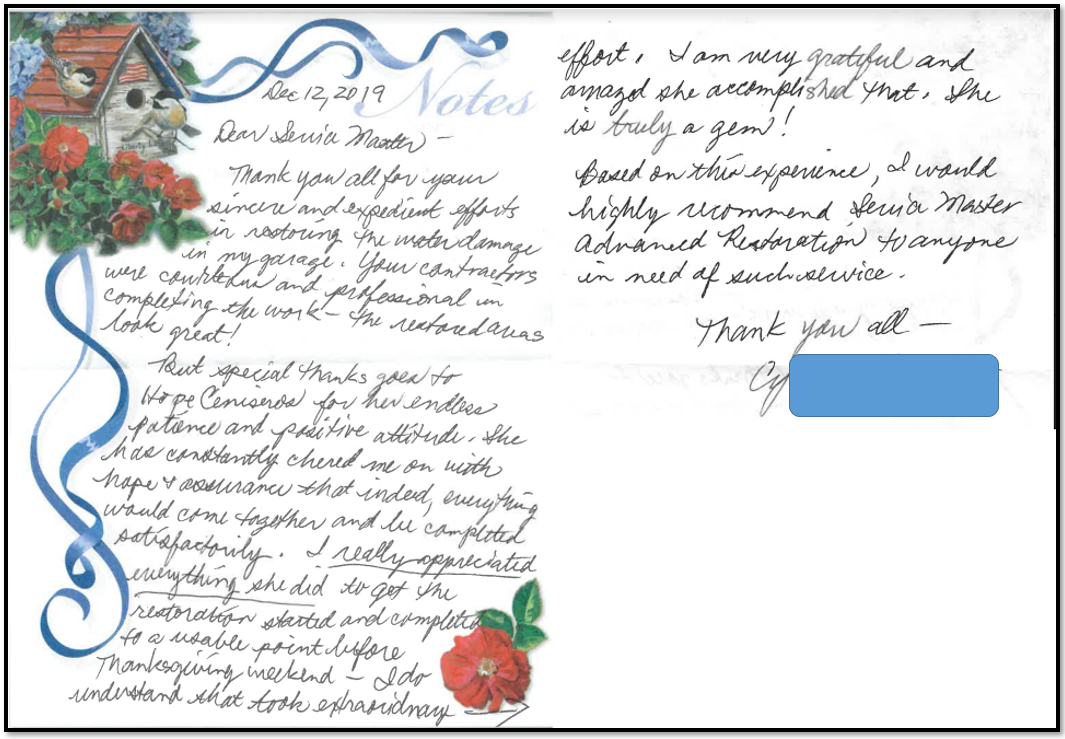 TKhank you letter from the client 12.12.19