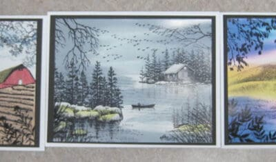 Oct. 31, Thurs. Stampscapes card class 9:30 – 11:30 a.m. (date change)