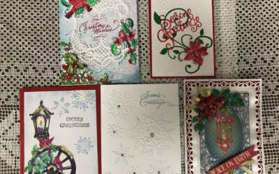 Dec. 14, Sat. Heartfelt card class 9:30 am – 12:00 & Christmas Potluck 12:30 pm