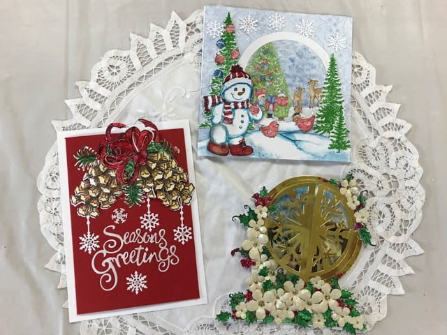 Oct. 22, Thurs. Heartfelt Christmas card class 1 p.m.