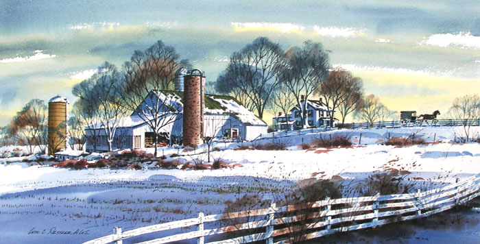 Amish Country Giclee by William Ressler