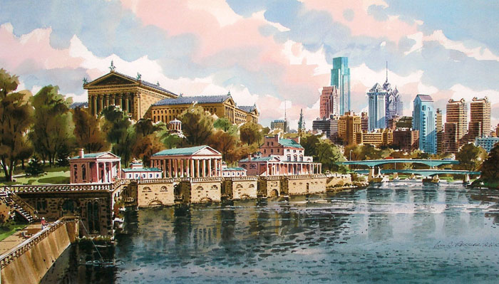 Autumn Skyline 2 Giclee by William Ressler