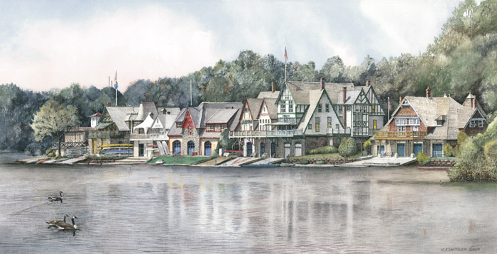 Boathouse Row 6 by Nick Santoleri