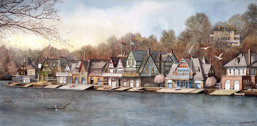 Boathouse Row 7 by Nick Santoleri
