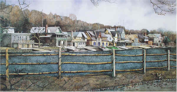 Boathouse Row 4 by Nick Santoleri