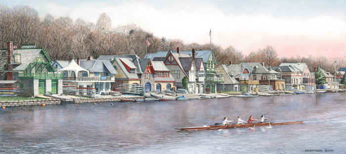Boathouse Row 5 by Nick Santoleri