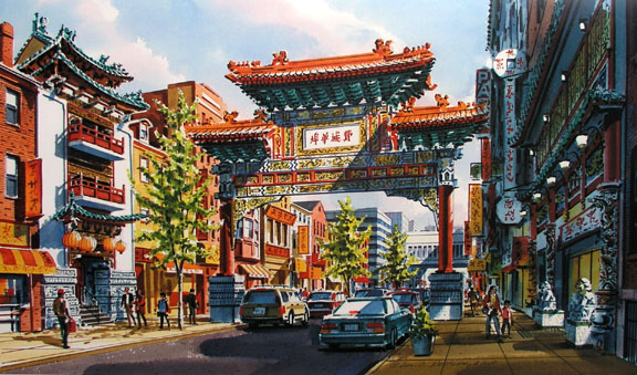 Chinatown Philadelphia by William Ressler