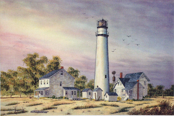 Fenwick Island Light by William Dawson