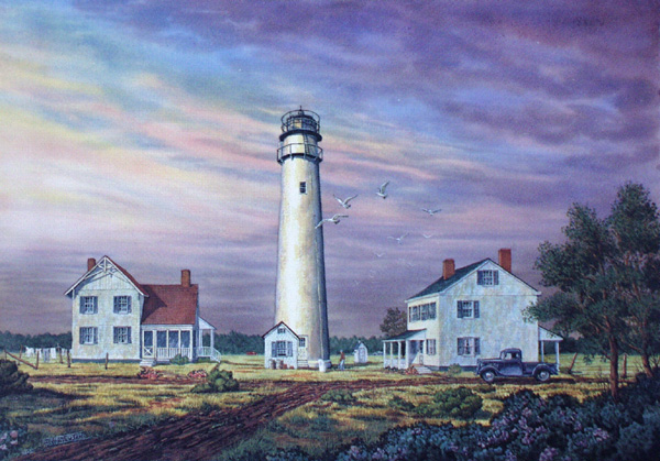 Fenwick Island Light Circa 1936 by William Dawson