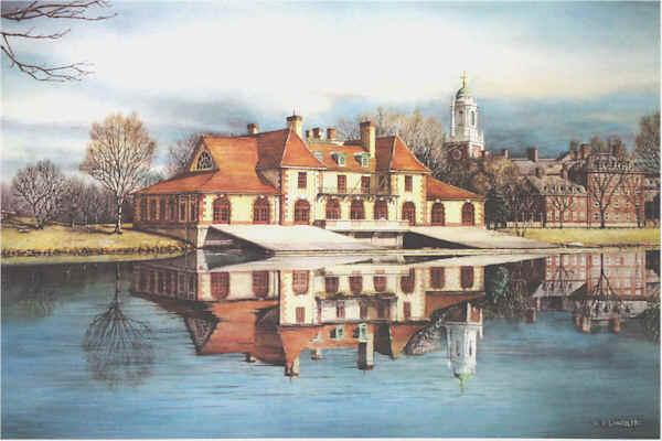 Harvard's Boathouse by Nick Santoleri