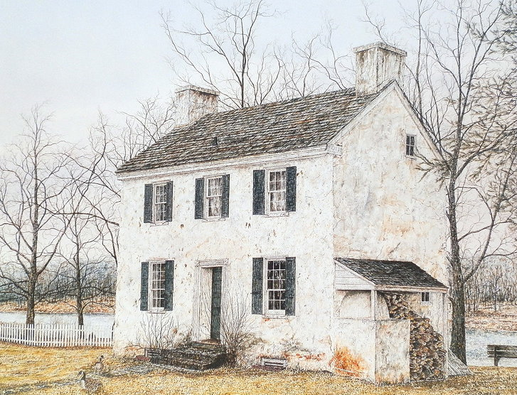 Hibbs House offset print by James Redding