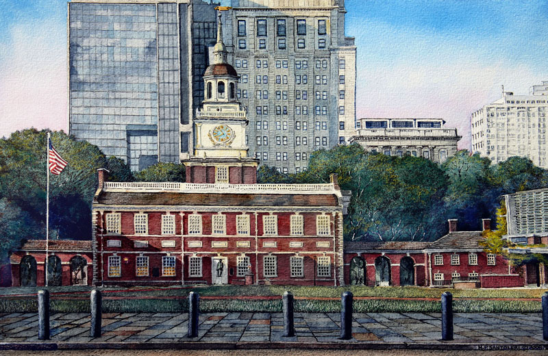 Independence Hall 3 by Nick Santoleri