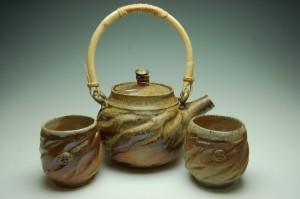 Pottery by Jeremy Sims tea set.