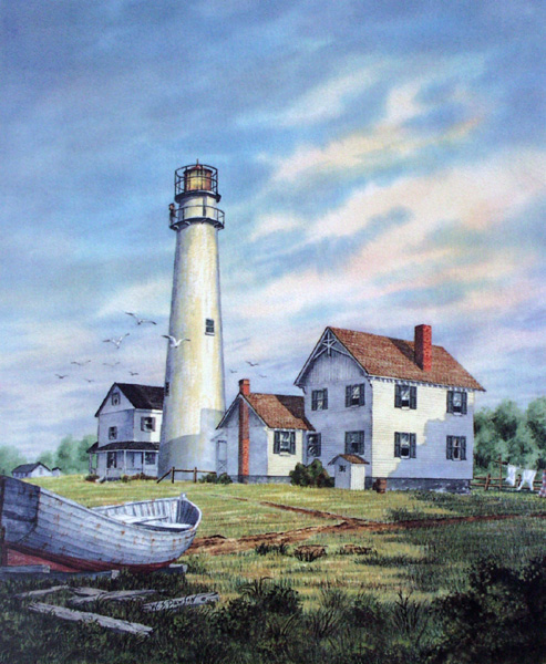 The Light at Fenwick Island by William Dawson