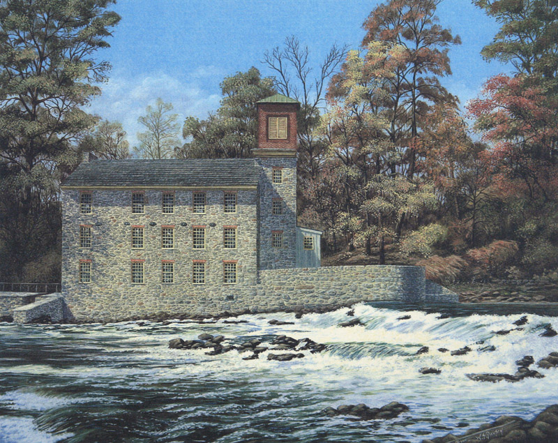 Mill in Autumn by William Dawson