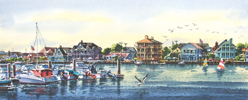 Morning on the Bay I Giclee by William Ressler
