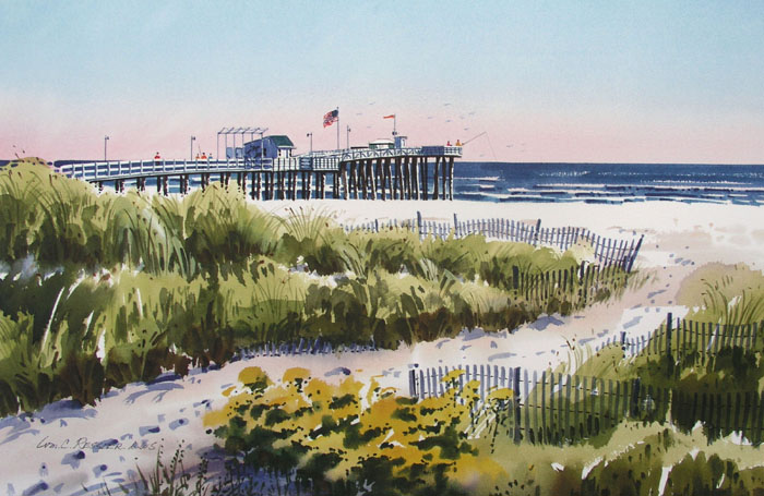 Ocean City Fishing Pier Giclee by William Ressler