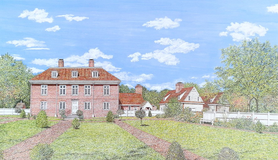 Pennsbury Manor offset print by James Redding