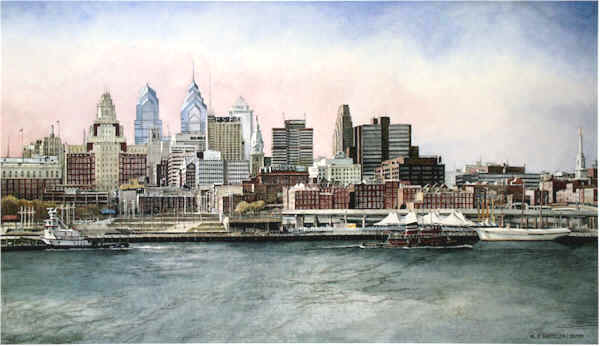 Philadelphia Skyline by Nick Santoleri
