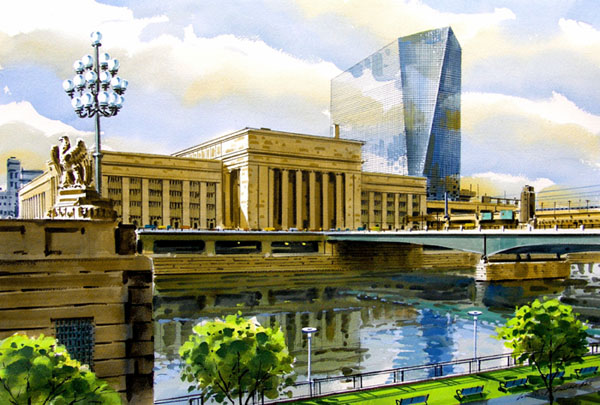 Schuylkill Reflections Giclee by William Ressler