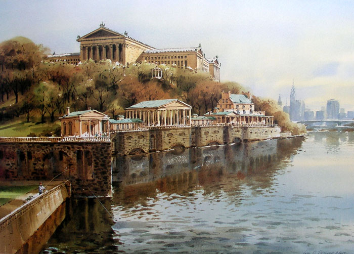 Schuylkill Skyline by William Ressler