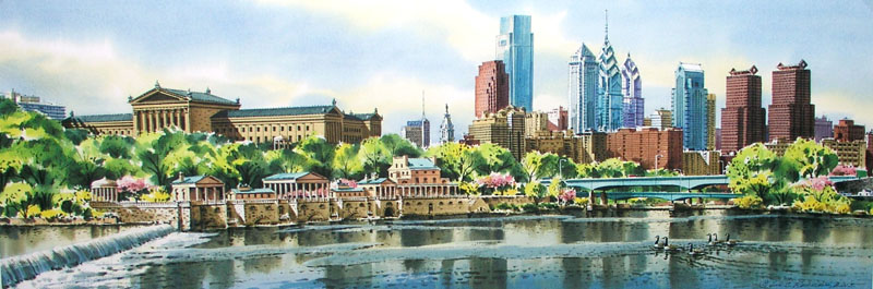 Schuylkill Spring III Giclee by William Ressler