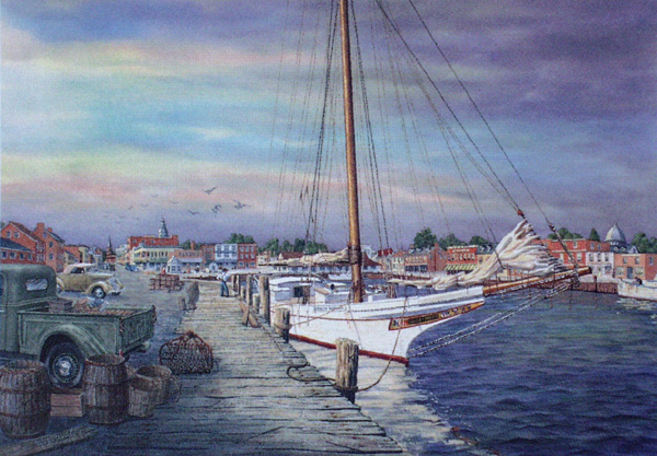 Skipjack at Annapolis by William Dawson
