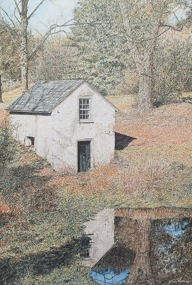 Springhouse Pond offset print by James Redding