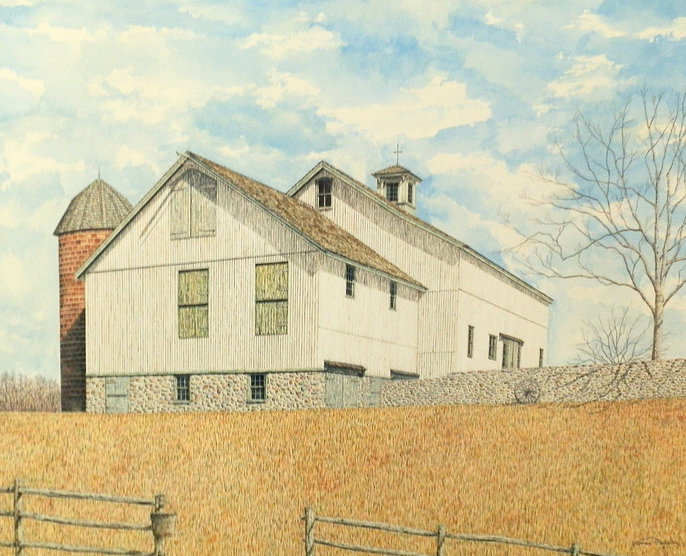 The Farmstead offset print by James Redding