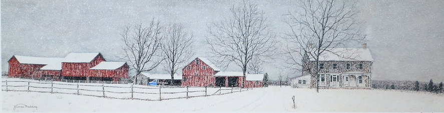Winter Tranquility offset print by James Redding