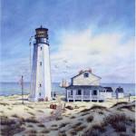 Cape Henlopen Light III (vertical) by William Dawson