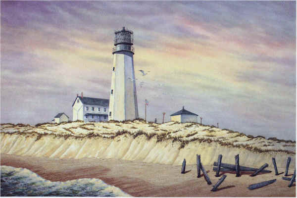 Cape Henlopen Light by William Dawson
