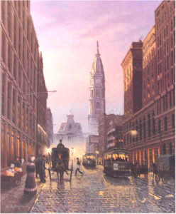 Market Street-Circa 1900 by William Dawson Philadelphia art print