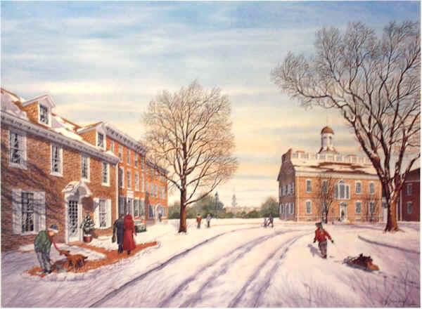 Winter on the Green by William Dawson