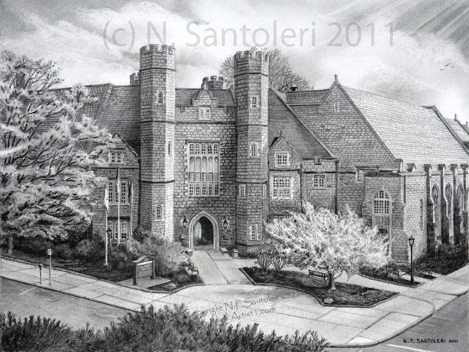 West Chester University open edition Pencil print by Santoleri