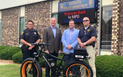 Mendota Police Department gifted a new electric patrol bike
