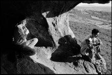 Robert Palmer and Bachir Attar in Jajouka's cave by David Katzenstein