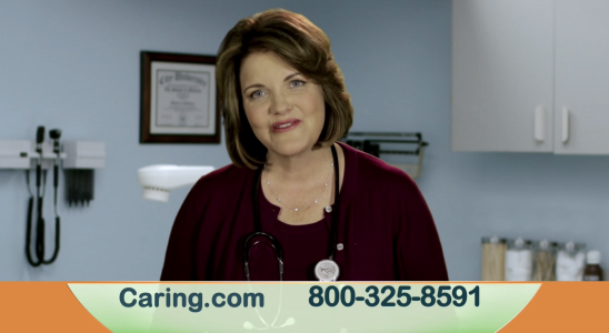 Nurse Barb is hired to be the featured expert in 2015 caring.com commercial