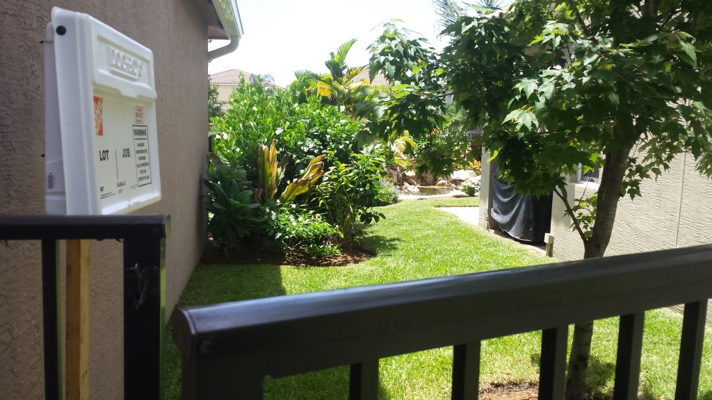 xero lot line landscape and waterfall backyard makeover, boynton beach, canyons 1, after