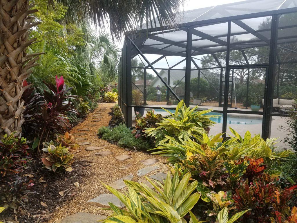 tropical stone pathway