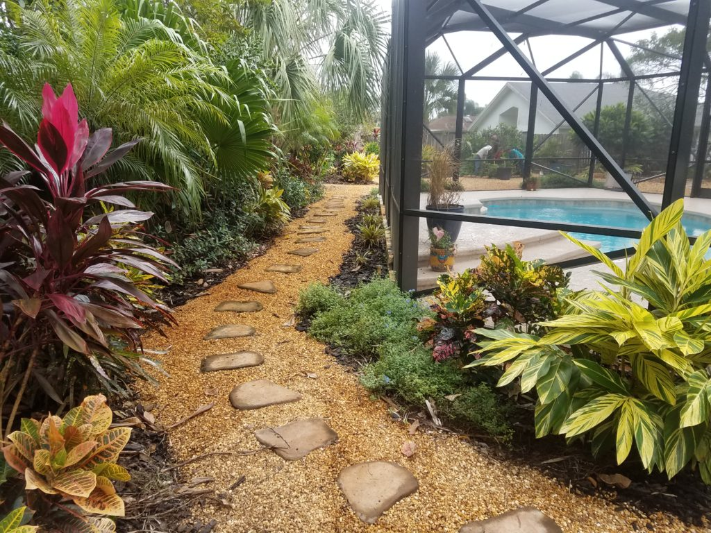 landscape for pool screen