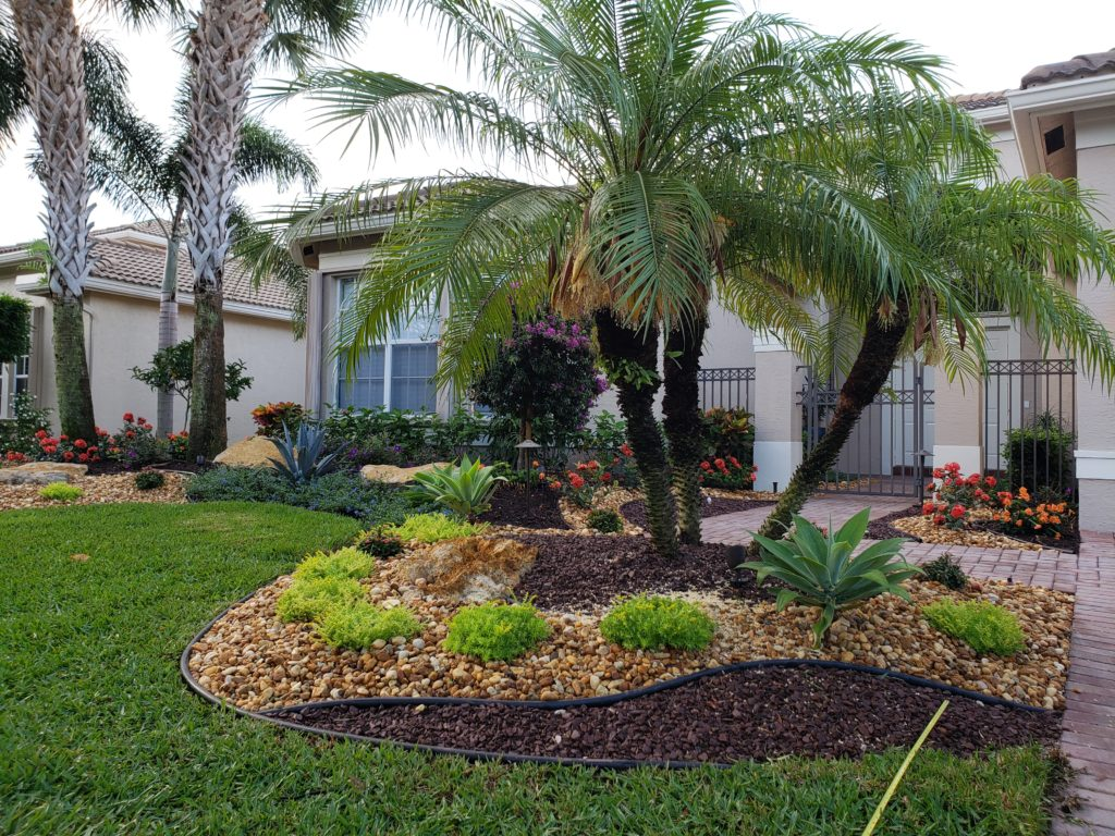 stone & plantings front yard landscape makeover