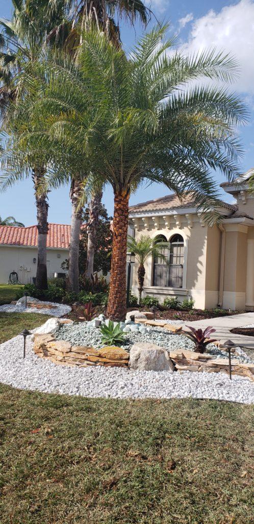 Front yard Landscape renovation with Rockscape & Boulders